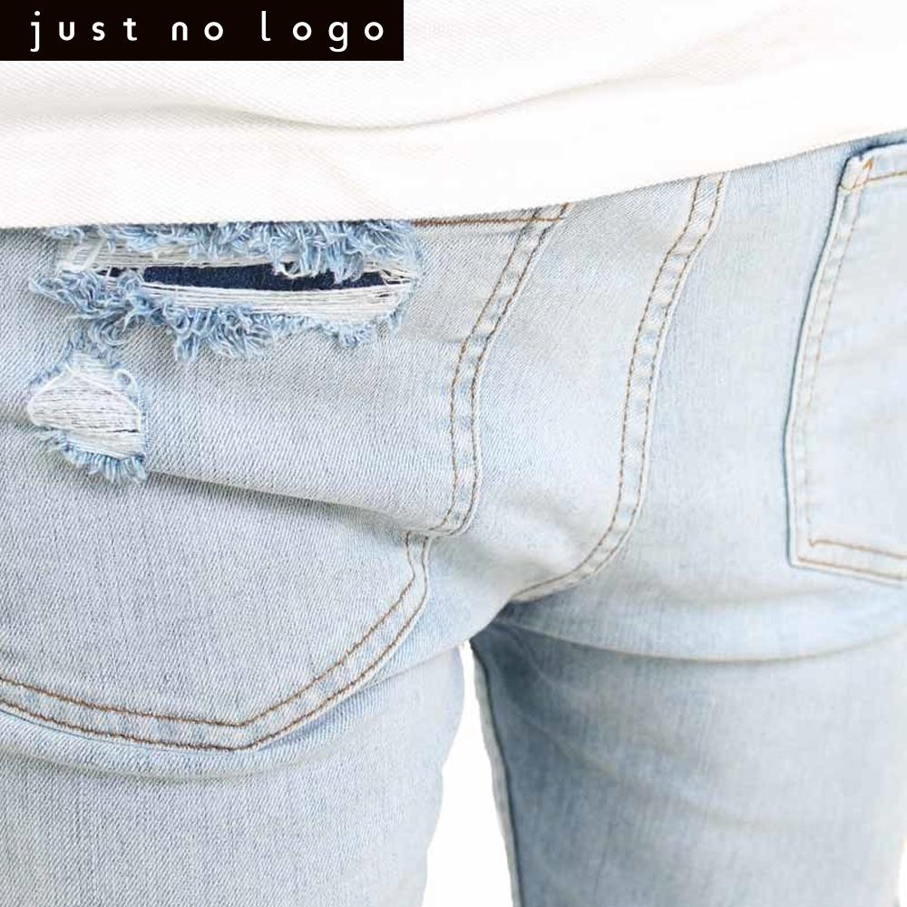 ccdd8c6d4e ... bleach blue ripped frayed destroyed knees holes denim jeans men (1)