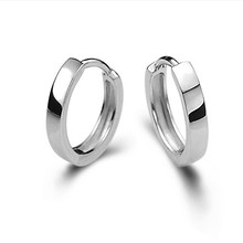 Punk Fashion 925 Sterling Silver Earrings For Women Mini Small Hoop Ear Bone Buckle Round Circle