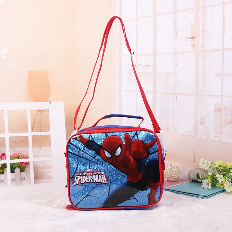 New Spider Man Spiderman Lunch Bag For Lunch Box Kids Boys Children School Picnic Food Thermal Insulated Bags