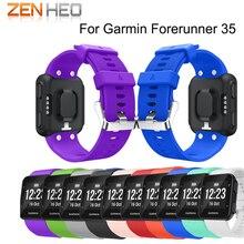 Купить с кэшбэком ZENHEO Silicone Watch Strap Replaceable Watch band Wrist strap wristband bracelet for Garmin Forerunner 35 smart Watchband