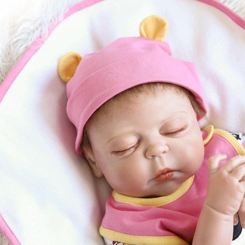 9af0d3e1d0e5 23 Inch 57cm Full silicone body reborn babies boy Sleeping dolls ...
