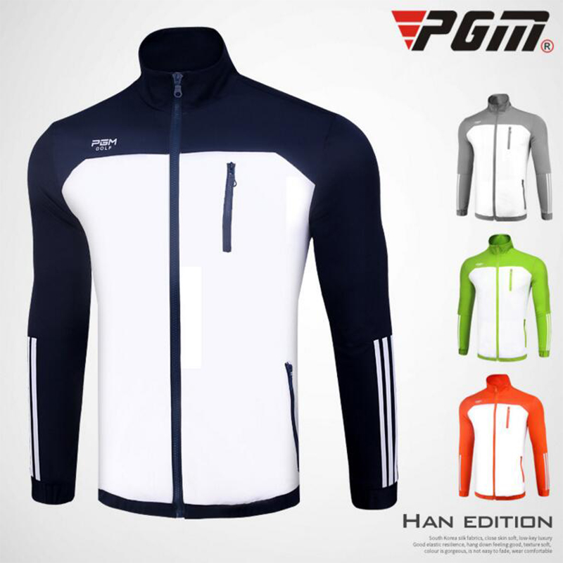 PGM New Golf Jackets For Men Anti-Pilling Windproof Breathable Top Quality Autumn Winter Mens Sports Running Jacket
