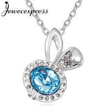 Jewecexpress Fairy rabit Crystal Pendant Necklace