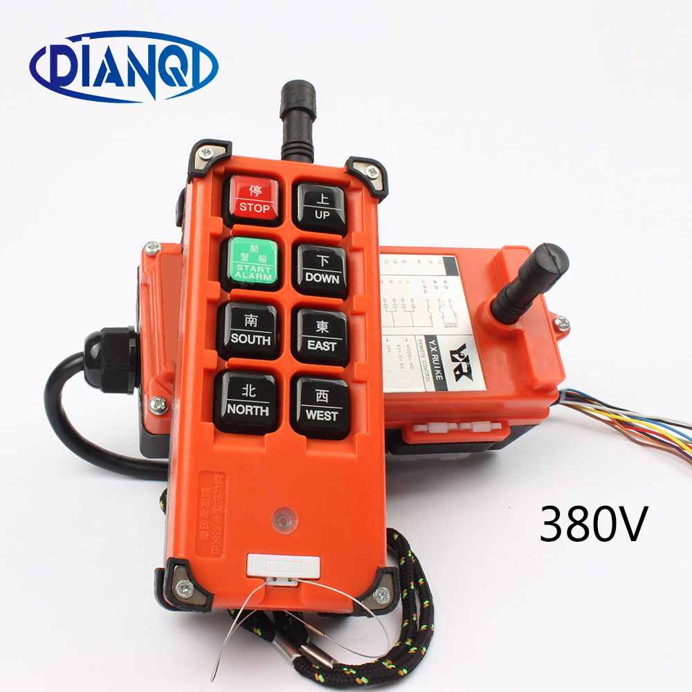 AC 380V  Industrial Remote Control Switch Crane Transmitter 8 channels F21-E1B 1 receiver+ 1 transmitterAC 380V  Industrial Remote Control Switch Crane Transmitter 8 channels F21-E1B 1 receiver+ 1 transmitter