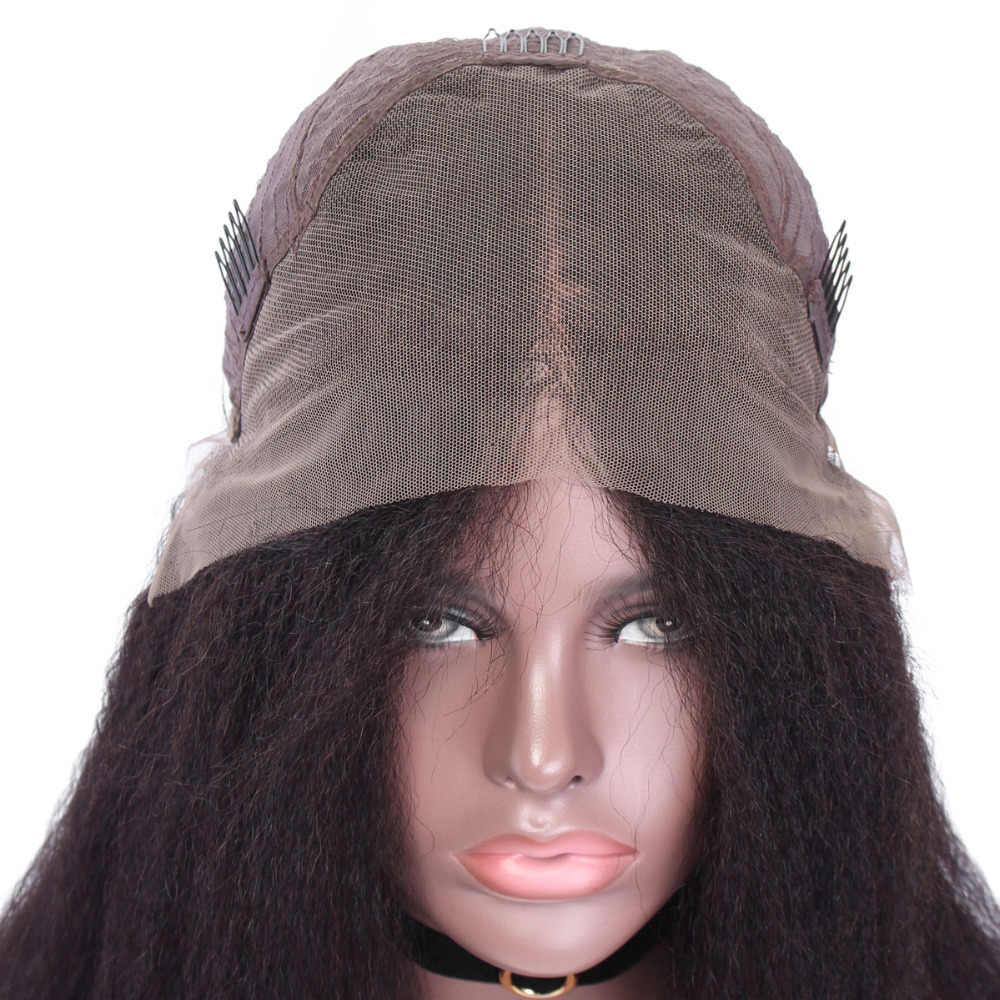 YVONNE 13x4 кудрявый причёска Боб с прямыми волосами Парики для женщин бразильские Виргинские кружева спереди человеческие волосы парик натуральный цвет
