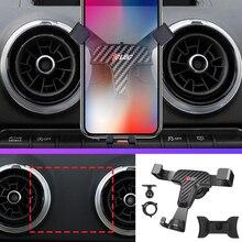 Автомобильный телефон 360 Градусов Крепление держатель мобильного вентиляционное отверстие магнит ячейки стенд для Audi A3 8 V 2014 2015 2016 2017 2018