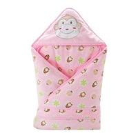 0 8M removable newborn baby sleeping bag cartoon velvet sandwich baby bed quilt 90*90cm autumn winter thickness swaddle quilt