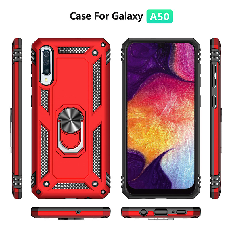 Image 2 - H&A Luxury Shockproof Phone Case For Samsung Galaxy A60 A70 A80 A90 A50 A40 A30 A20 A10 Magnetic Ring Stand Cover M10 M20 Case-in Fitted Cases from Cellphones & Telecommunications