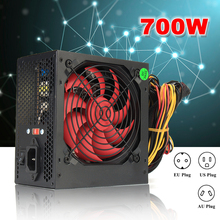 EU/AU/US Plug MAX 700W PCI SATA ATX 12V Gaming PC Power Supply 24Pin/Molex/Sata 700Walt 12CM Fan Computer Power Supply For BTC