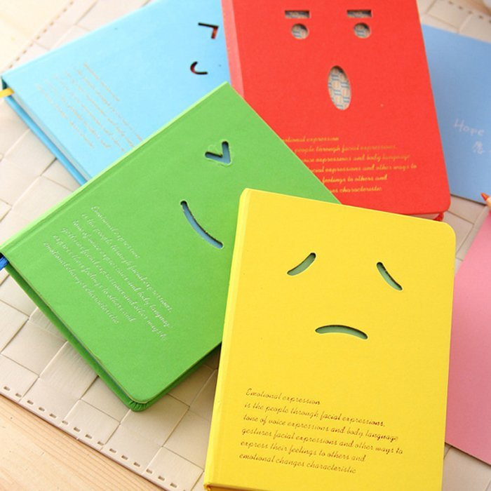 MIRUI stationery creative smiling expression Hard copy laptop notebook graduation gift diary book