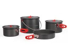 Alocs 5-6 Person Cooking Pot Camping Pan Outdoor Picnic Cookware Pots Sets CW-RT07 стоимость