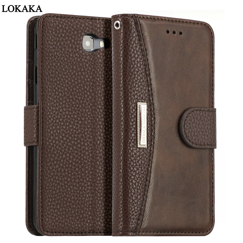 LOKAKA For Samsung Galaxy A5 A3 A7 2016 J3 S9 A8 Plus 2018 J7 J5 Prime Case PU Leather Wallet Flip Mobile Phone Cases A3 A5 2017