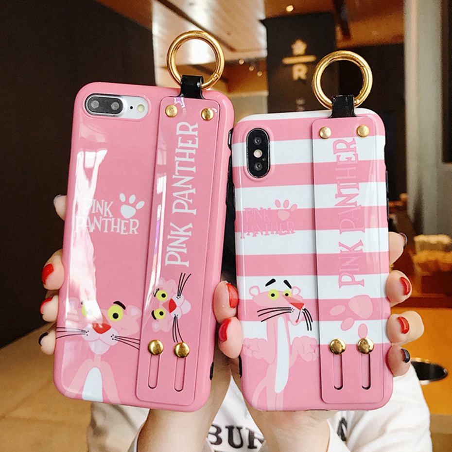 Beily Pink Panther Case for iPhone XS Max XR X 6 6S 7 8 Plus Case