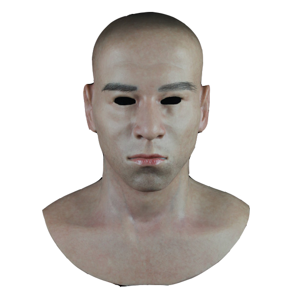 (SF-N8) Party crossdress masquerade cosplay realistic human face silicone male full head mask for Halloween fetish wear