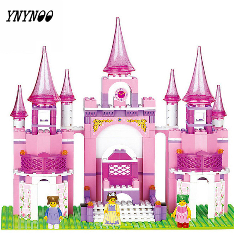 YNYNOO learning & education Pink Princess Series Castle 472pcs Building Blocks Set Girls Bricks Toys compatible With Bricks lego education 9689 простые механизмы