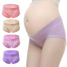 4 पीसी / बहुत कपास कम कमर मातृत्व अंडरवियर गर्भवती महिला अंडरवियर मातृत्व पैंटी गर्भावस्था ब्रीफ बॉक्सर महिला कपड़े