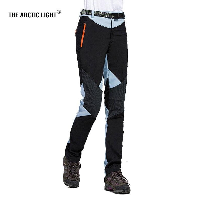 L'ARTICO LUCE di Campeggio D'escursione Sci Pantaloni Outdoor Pantaloni Soft shell Impermeabile Antivento Termico Per Le Donne Traverse
