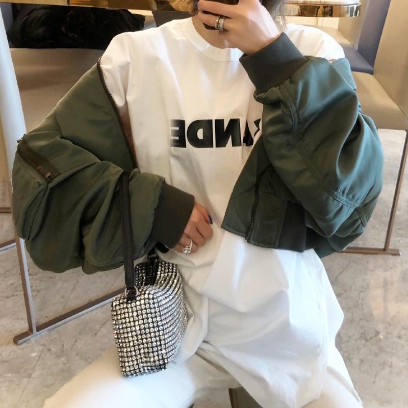 Luxo Glitter Bling Sacos Wang Verão Carta