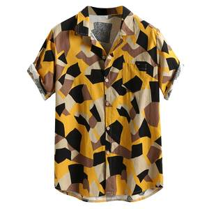 Womail Print Shirts Plus-Size Short-Sleeve Regular Mens Clothing Beach-Hawaiian New-Arrival