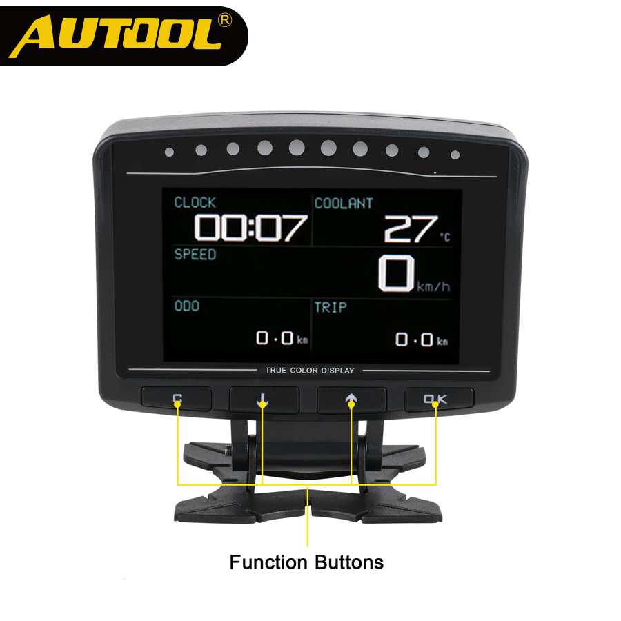 AUTOOL X50 PRO OBD II HUD Head Up Display OBD2 Digital Car Computer Auto Speed Meter Electronic Monitor Diagnosis ECU Film Gauge