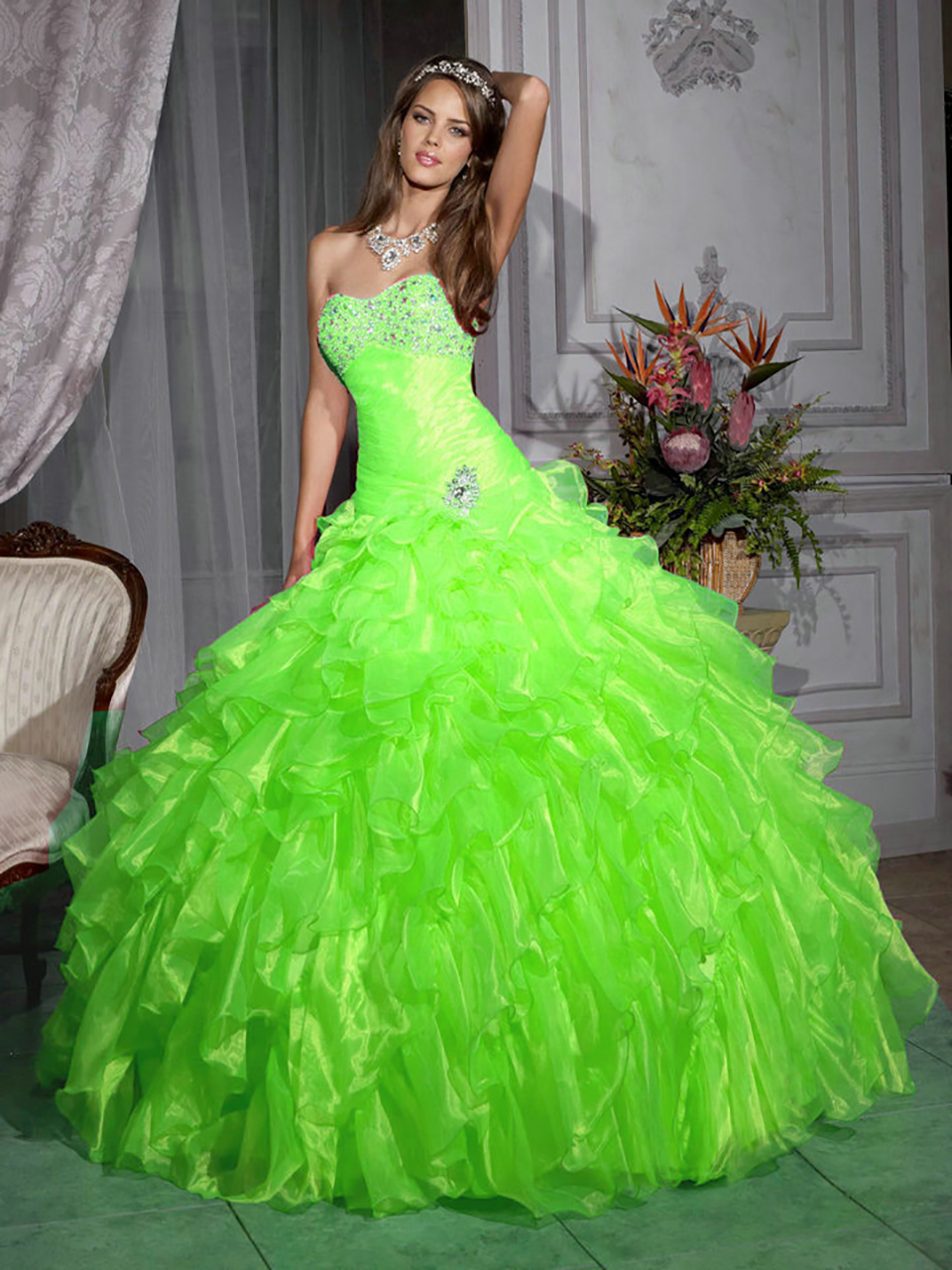 Popular Lime Green Quinceanera Dresses-Buy Cheap Lime Green ...