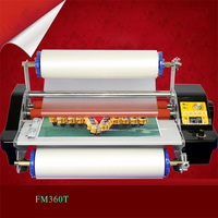 1pc CNC stepless speed modulation FM360T Hot&Cold Laminator hot mounted stickers cold mounted photo lamination film 3 4 minutes