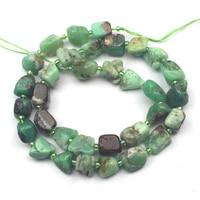 Freeform natuurlijke Chrysopraas kralen natuurlijke edelsteen kralen DIY losse kralen voor sieraden maken strand 15