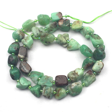 freeform natural Chrysoprase stone beads natural GEM stone beads DIY loose beads for jewelry making strand 15″ free shipping