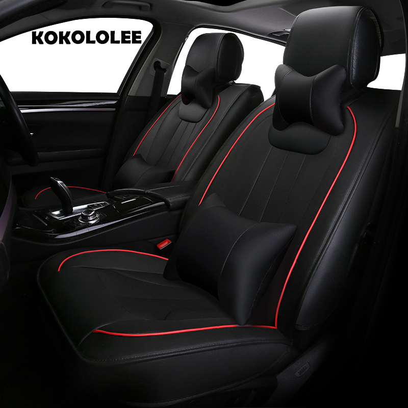 KOKOLOLEE pu leather car seat cover for Ford focus 2 Mondeo Focus RT Escort Explorer F-150 Mustang Edge fiesta kuga auto styling yuzhe leather car seat cover for ford mondeo focus 2 3 kuga fiesta edge explorer fiesta fusion car accessories styling cushion