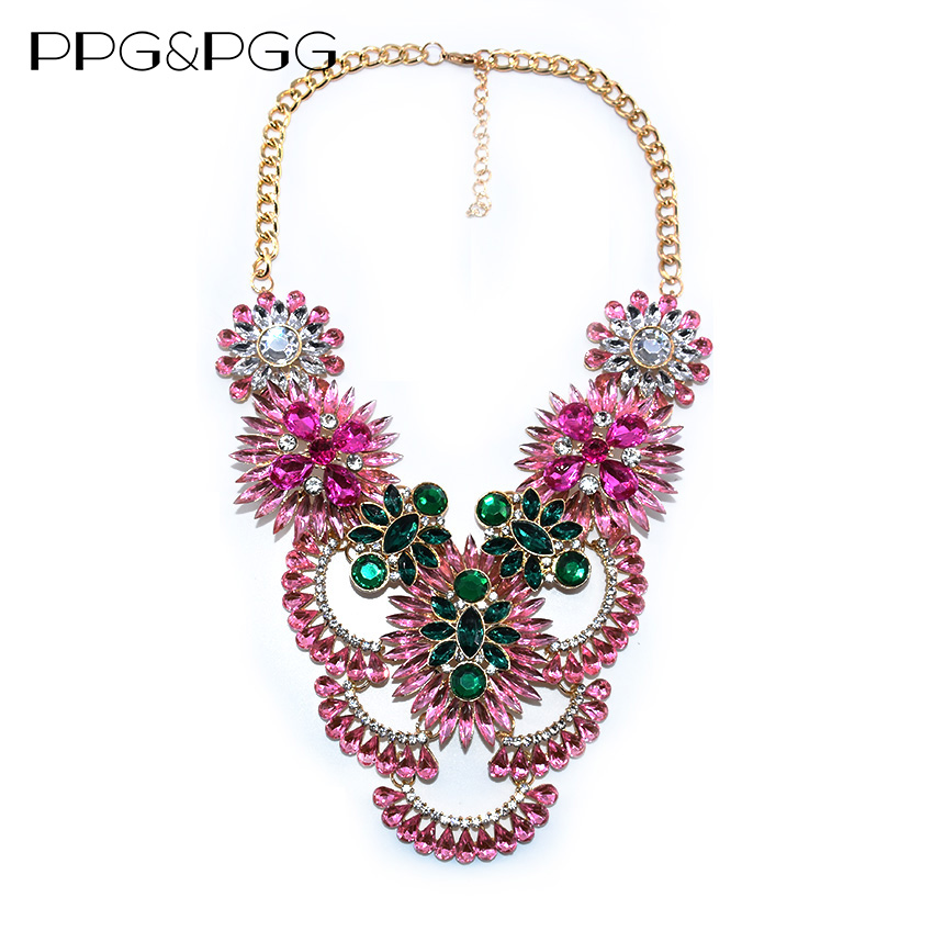 PPG&PGG New Gorgeous Jewelry Luxury Maxi Colar Crystal Rhinestone ...