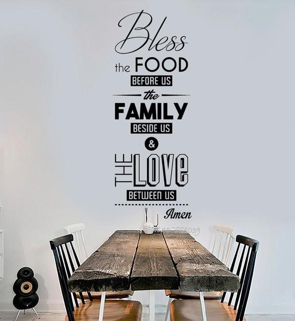 Berkatilah Makanan Penawaran Dinding Decal Pvc Tidak Beracun Stiker Doa Ruang Makan Dapur Restoran