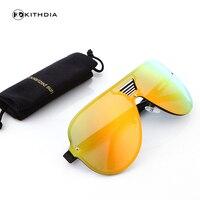 KITHDIA Brand Beste mannen Zonnebril Gepolariseerde Spiegel Lens Grote Oversize Eyewear Accessoires Zonnebril Voor Mannen Vrouwen