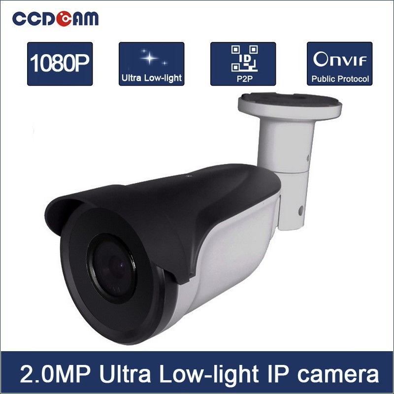 CCDCAM CCTV Network Outdoor H.265 2MP Ultra Low-Light ip camera support onvif <font><b>IMX291</b></font> EC-IUW7208B image