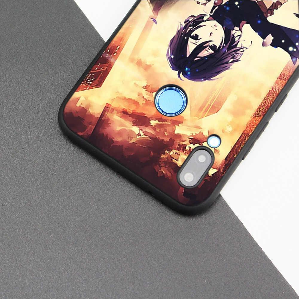 غطاء حافظة من السيليكون لهواوي P20 P10 P9 P8 لايت برو 2017 وعاء الذكية + 2019 نوفا 3i 3E الهاتف حالات هجوم على تيتان ميكاسا أنيمي