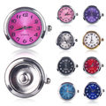 New Snap Jewelry 18mm Round Silver Tone Quartz Watch Face Charm Ginger Snap Button for Fashion DIY Snap Jewelry Bracelet Bangle