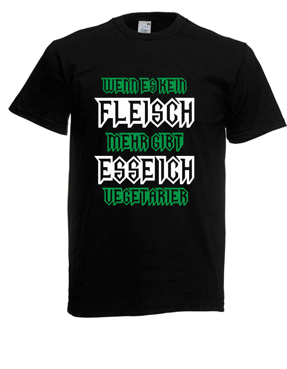 Men Fashion Herren T-Shirt Wenn es kein Fleisch mehr gibt esse ich Vegetarier bis 5XL Printed T Shirts Mens Streetwear