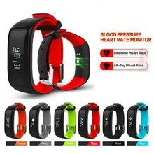 P1 Bluetooth SmartBand крови Давление монитор сердечного ритма браслет Водонепроницаемый IP67 Смарт Браслет переносной 0.86 «oled 2