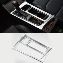 2016 Car Styling ABS Gear Box Decorative Frame Sequins Chrome Trim Water Cup Cover For Hyundai Sonata 9th 2015 2016