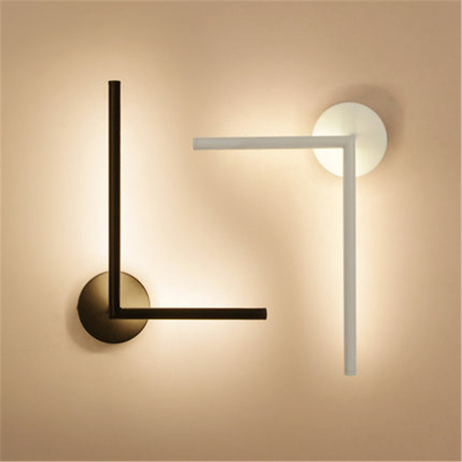 Thrisdar 360 תואר Rotatable המיטה קריאת מנורת אמנות אישיות קו מדרגות מלון קפה מסדרון מעבר קיר אור-במנורות קיר מתוך פנסים ותאורה באתר
