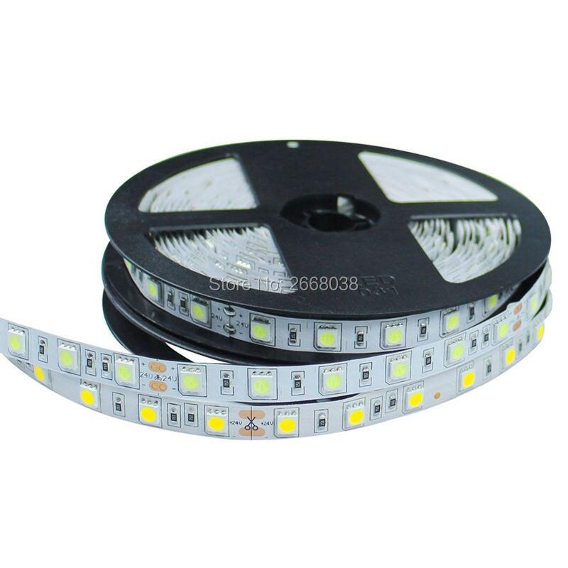 wfleds RGB LED Strip Flexible Lights DC 24V SMD 5050 300LED 5M Lampada LED Light Tape Ribbon Lamp Warm White/White/Blue/Red/RGB
