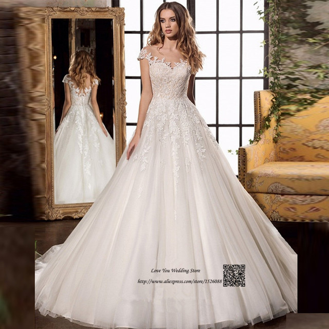 Greek Style Lace Wedding Dress 2017 Cap Sleeve Princess Gowns Vintage Bride Dresses Vestido De