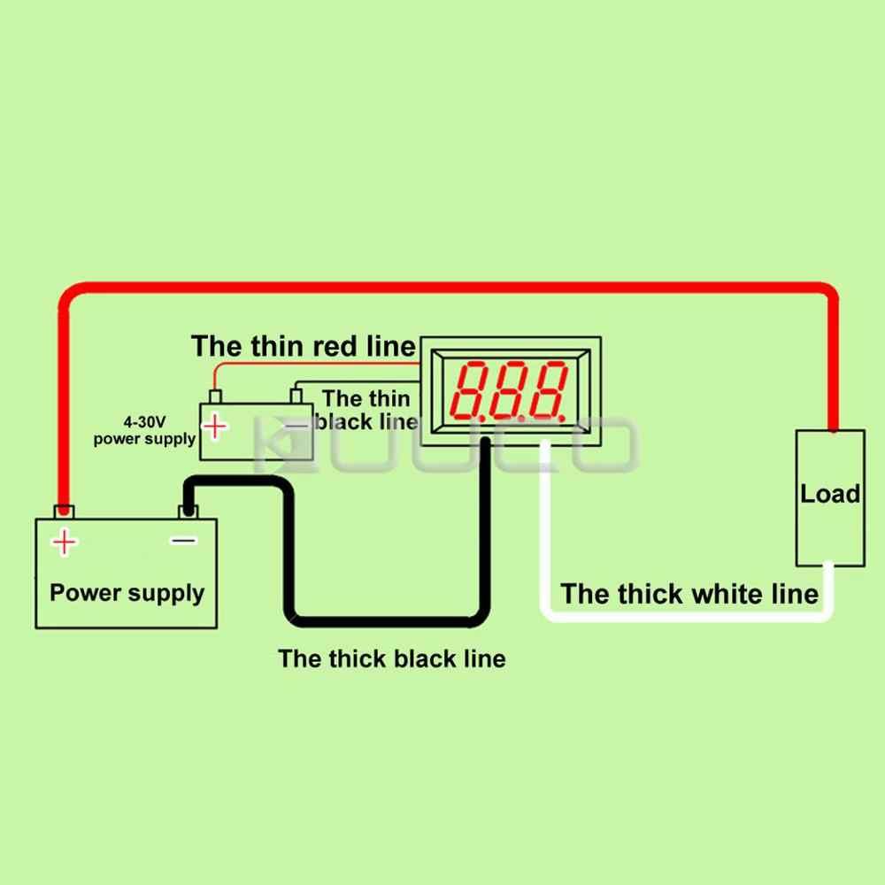 Cyfrowym amperomierzem DC 0 ~ 10A zielona dioda LED amperomierz DC 5 V 12 V 24 V miernik prądu amper Tester