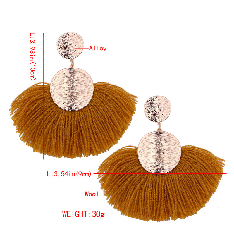 2018 Hot Sale Bohemian Tassels Earrings Fashion Jewelry Women Big Drop Dangle Classic Long Statement Earrings Valentine Gift