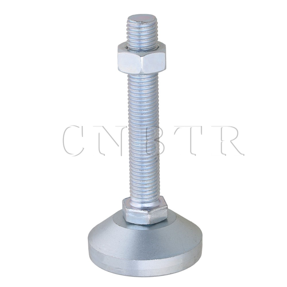 CNBTR 60mm Dia Carbon Steel M16x100mm Adjustable Furniture Glide Leveling Feet