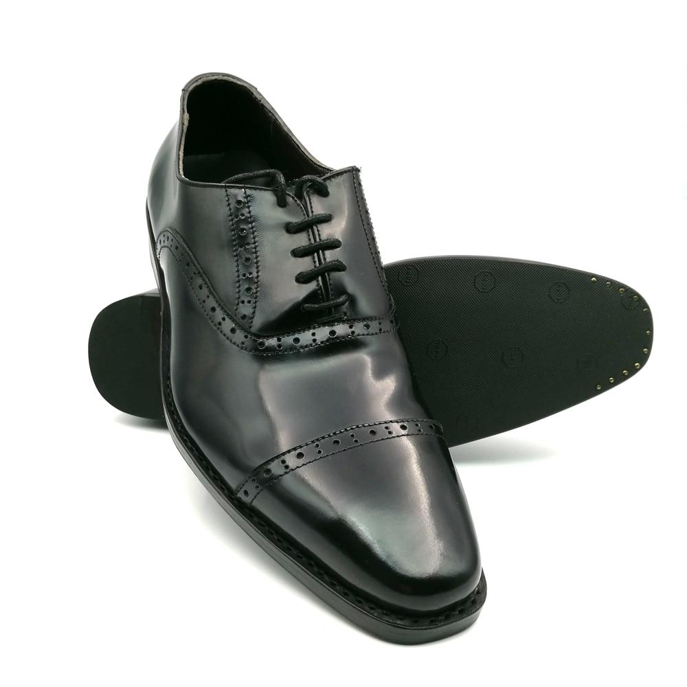 SP51 - Zapatos Oxford de cuero genuino de los nuevos hombres marrones - Zapatos de hombre - foto 2