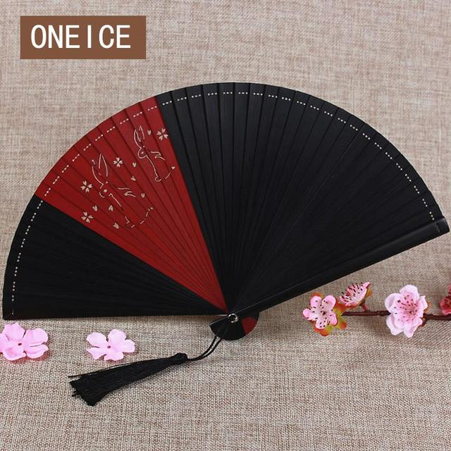 Japan And The Wind Of All Bamboo Fan Carved Hollow Archouflage Handicraft Cartoon Gift Chinese Style Hand Fans Culture