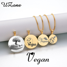 VEGAN Symbol / Logo pendant necklace