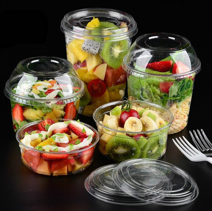 Pet transparent plastic cup disposable of fruit packing thickening without cover 100 PCS