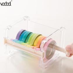 VODOOL Beige Color Japanese Stationery Masking Tape Cutter Washi Tape Storage Organizer Cutter Office Tape Dispenser Supplies