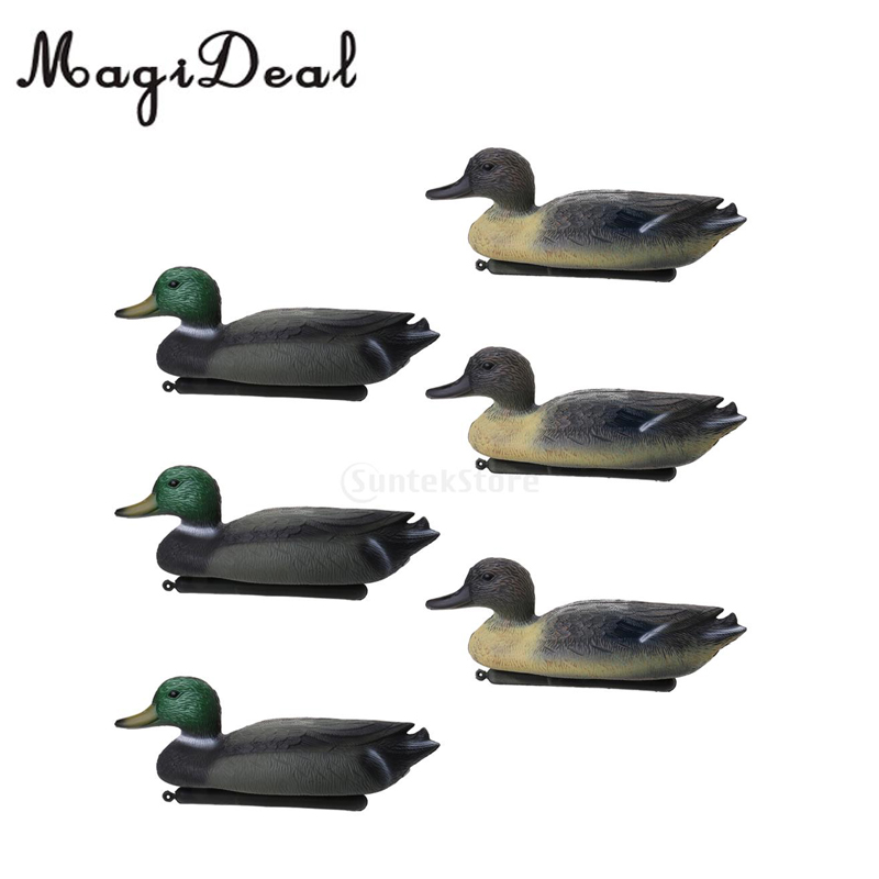 6pcs PE 3D Outdoor Hunting Duck Decoy Floating Lure W/ Keel For Hunting Fishing Accessories Garden Yard Pool Decors Ornaments ru aliexpress com мотоутка